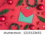 christmas composition.... | Shutterstock . vector #1215123652