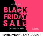 website poster design for black ... | Shutterstock .eps vector #1215129922