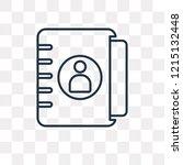 agenda vector outline icon... | Shutterstock .eps vector #1215132448