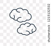 cloudy vector outline icon... | Shutterstock .eps vector #1215132532