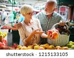 picture of senior couple at... | Shutterstock . vector #1215133105