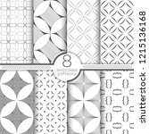 set of vector seamless patterns.... | Shutterstock .eps vector #1215136168