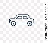 rectangular car vector outline...   Shutterstock .eps vector #1215144715