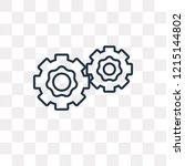two cogwheels vector outline... | Shutterstock .eps vector #1215144802