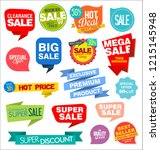 modern labels badges and tags... | Shutterstock .eps vector #1215145948