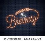 beer vintage neon lettering.... | Shutterstock .eps vector #1215151705