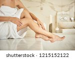 beautiful legs. pretty lady... | Shutterstock . vector #1215152122