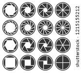 aperture camera shutter focus... | Shutterstock .eps vector #1215155212