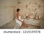 calm atmosphere of hammam... | Shutterstock . vector #1215155578