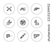 pistol icon set. collection of...   Shutterstock .eps vector #1215159952