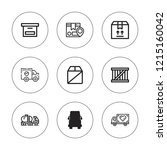 deliver icon set. collection of ... | Shutterstock .eps vector #1215160042