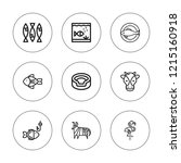 fauna icon set. collection of 9 ... | Shutterstock .eps vector #1215160918