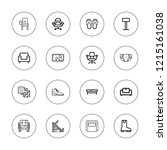 comfortable icon set.... | Shutterstock .eps vector #1215161038