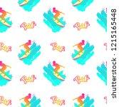 surf pattern. handwritten... | Shutterstock .eps vector #1215165448