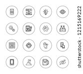 idea icon set. collection of 16 ...