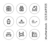 pipeline icon set. collection... | Shutterstock .eps vector #1215169555