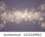light abstract glowing bokeh... | Shutterstock .eps vector #1215169852