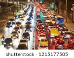 traffic jam or collapse in a... | Shutterstock . vector #1215177505