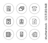 clipboard icon set. collection... | Shutterstock .eps vector #1215181468