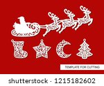 set of christmas decoration.... | Shutterstock .eps vector #1215182602