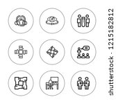 collaboration icon set....   Shutterstock .eps vector #1215182812