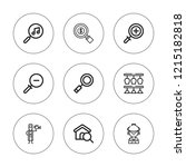 loupe icon set. collection of 9 ... | Shutterstock .eps vector #1215182818