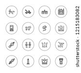 medieval icon set. collection... | Shutterstock .eps vector #1215183082