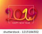 red spectrum happy new year... | Shutterstock .eps vector #1215186502