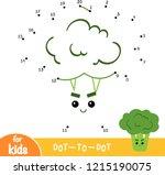 numbers game  education dot to... | Shutterstock .eps vector #1215190075
