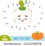 numbers game  education dot to... | Shutterstock .eps vector #1215190078