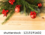 new year's eve  branches with... | Shutterstock . vector #1215191602