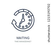 waiting icon. waiting linear...   Shutterstock .eps vector #1215193702