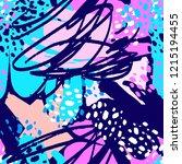 paint strokes seamless pattern... | Shutterstock . vector #1215194455