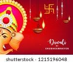 happy diwali wallpaper design...   Shutterstock .eps vector #1215196048
