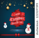 merry christmas and happy new... | Shutterstock .eps vector #1215197395