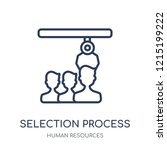 selection process icon.... | Shutterstock .eps vector #1215199222