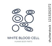 white blood cell icon. white... | Shutterstock .eps vector #1215202372