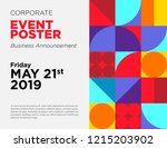 business announcement vector... | Shutterstock .eps vector #1215203902