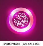 happy new year lettering in... | Shutterstock .eps vector #1215211558