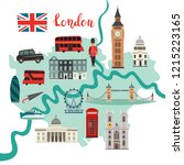 london map vector. abstract... | Shutterstock .eps vector #1215223165