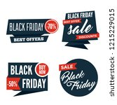 flat black friday colorful...   Shutterstock .eps vector #1215229015