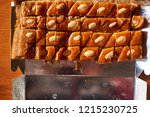 catering with appetizers and ...   Shutterstock . vector #1215230725
