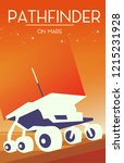 Pathfinder on Mars Space Art poster.