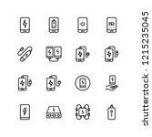 power bank flat icon set.... | Shutterstock .eps vector #1215235045