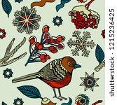 christmas background  winter...   Shutterstock .eps vector #1215236425