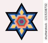 colorful six pointed star vector   Shutterstock .eps vector #1215238732