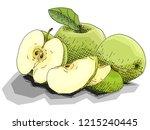 vector illustration sketch of... | Shutterstock .eps vector #1215240445