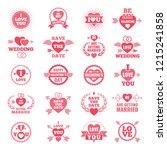 love symbols for wedding day.... | Shutterstock . vector #1215241858