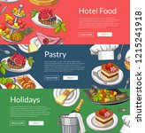 web banner templates with hand ... | Shutterstock . vector #1215241918