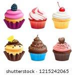 realistic illustrations of... | Shutterstock . vector #1215242065